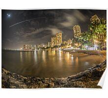 Waikiki Beach in Hawaii Poster