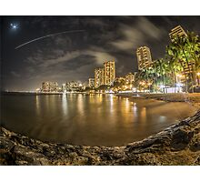 Waikiki Beach in Hawaii Photographic Print