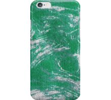 green,white,burlap,fabric,wavy,swirl,modern,trendy,pattern iPhone Case/Skin
