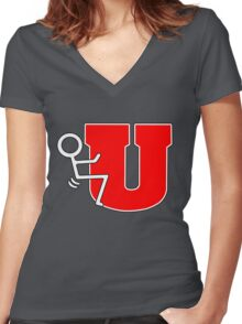 Stick u Women's Fitted V-Neck T-Shirt
