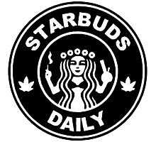 Starbuds Daily I Love Cannabis And Coffee Photographic Print