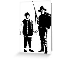 Ricky Baker and Uncle Hec, Hunt for the Wilderpeople Greeting Card