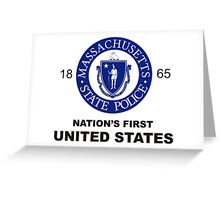 Massachusetts State Police Badge (Nation's First) Greeting Card