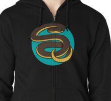 Plain Bellied Water Snake Zipped Hoodie