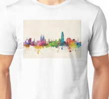 Barcelona Spain Skyline Unisex T-Shirt