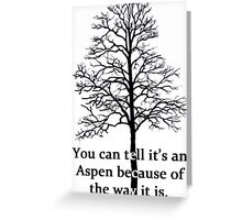 Neature Walk: Aspen Greeting Card