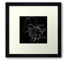 Starry-Eyed Sketchy Butterfly Goldfish Framed Print