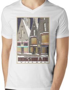 Hogsmeade Village Travel Poster Mens V-Neck T-Shirt