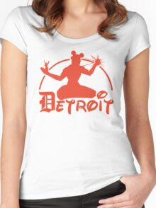 Spirit of Mickey - Detroit Tigers Edition Women's Fitted Scoop T-Shirt