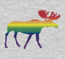 Rainbow Pride Moose by Kipper Doodles