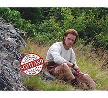 Jamie Fraser in kilt/Made in Scotland Photographic Print