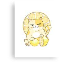 Lemon Cat Canvas Print