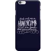 Honeycomb Proverbs x Navy iPhone Case/Skin