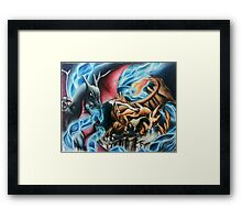 You Made Charizard Angry Framed Print