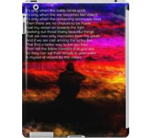 Vessel For The Voices Poster iPad Case/Skin