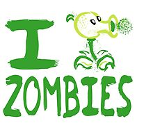 Tshirt I Plants against Zombies by Cidelacomte