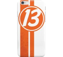 Orange 13 Racing Stripe iPhone Case/Skin