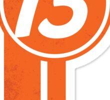 Orange 13 Racing Stripe Sticker
