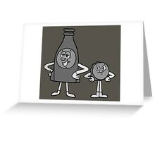 Cappy and Bottle - Nuka World Greeting Card