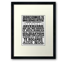 Exorcism Chant Framed Print