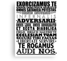 Exorcism Chant Canvas Print