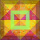 Geometric Shapes with Lime Accents by Dana Roper