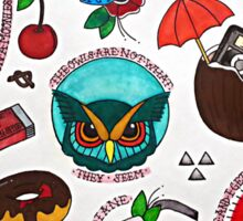 Twin Peaks Tattoo Flash Sticker