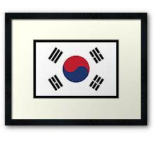 South Korean Flag Framed Print