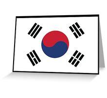 South Korean Flag Greeting Card