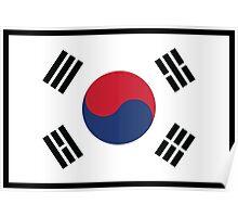 South Korean Flag Poster