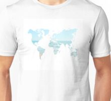 World Map Ocean Unisex T-Shirt