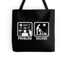 Gardening Funny Problem Solved Stickman Shirt Tote Bag