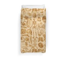 Human Anatomy Tan Print Duvet Cover