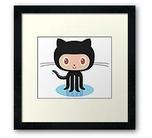 Github Social Coding Stickers Framed Print