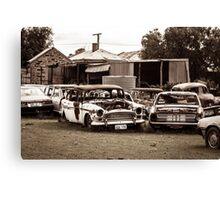 Rustic Cars Canvas Print