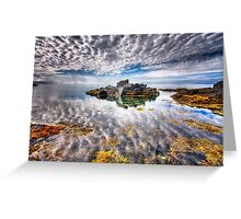 The Sky Above The Sky Below Greeting Card