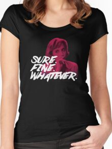 Sure. Fine. Whatever. (Pink) Women's Fitted Scoop T-Shirt