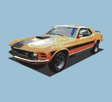 1970 Ford Mustang Mach I, Ideal Birthday 2422 Kids Tee