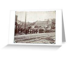 May 27, 1896 St. Louis, Missouri Tornado on South Broadway Greeting Card