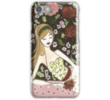 Floral Girl iPhone Case/Skin