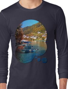 Boats in the harbour | waterscape photography Long Sleeve T-Shirt