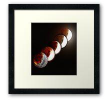 Lunar eclipse evolution Framed Print