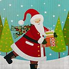 Santa and Presents by Susan S. Kline