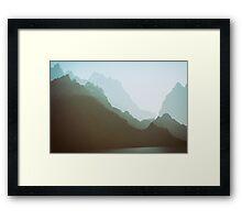 Misty Mountains at Dusk Framed Print