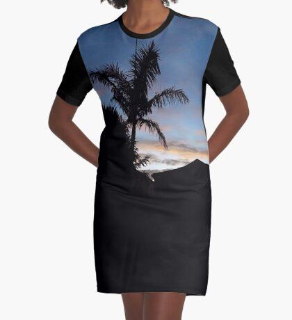 Dusky Suburb Graphic T-Shirt Dress