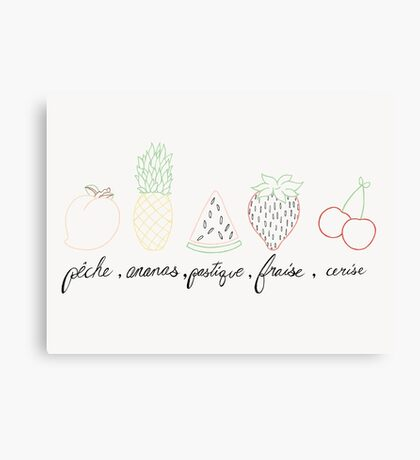 french fruit Canvas Print