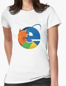 Internet Planet Womens Fitted T-Shirt