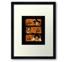 The Good vs the Bad and the Ugly Framed Print
