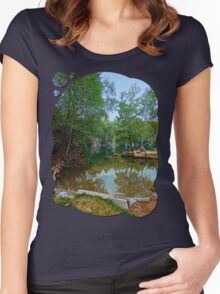 Romantic moments at the lake | waterscape photography Women's Fitted Scoop T-Shirt