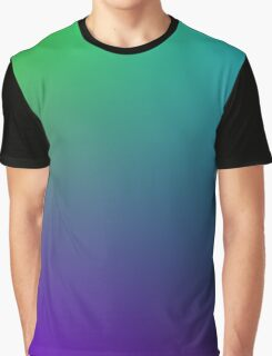 Blue Green Purple Black Gradient Graphic T-Shirt